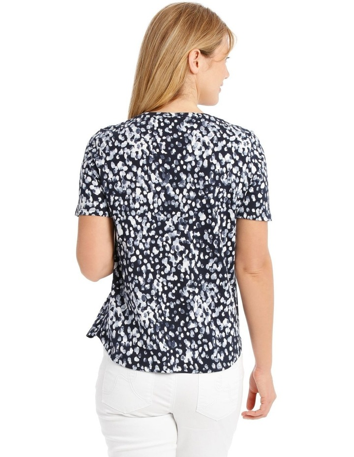 Cowl Neck Extended Short Sleeve Burnout Tee image 3