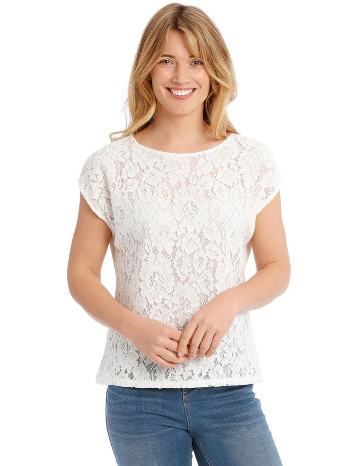 Lace Front Short Sleeve Tee image 1