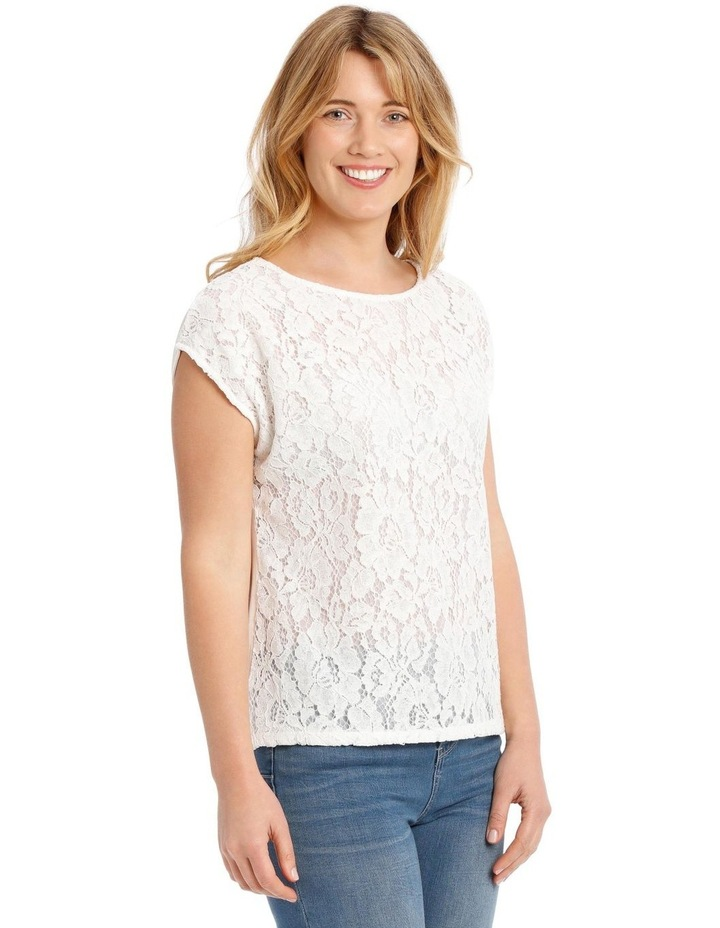 Lace Front Short Sleeve Tee image 2