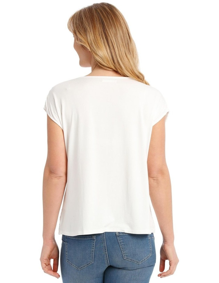Lace Front Short Sleeve Tee image 3