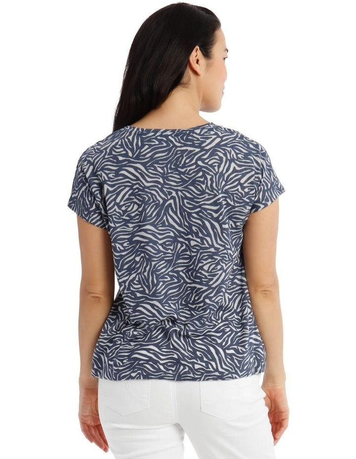 Extended Sleeve Knot Front Burnout Tee image 3