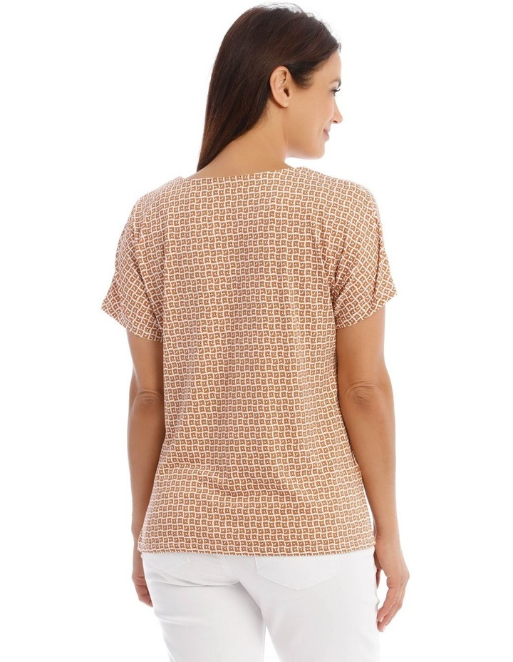 Short Sleeves Split-Neck Ring Tee image 3