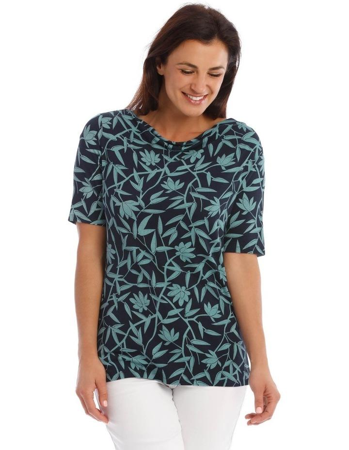 Short Sleeve Cowl Neck Tee image 1