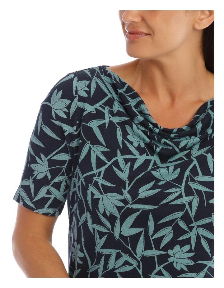 Short Sleeve Cowl Neck Tee image 4