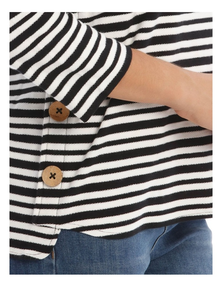 3/4 Sleeve Button Side Tee image 4