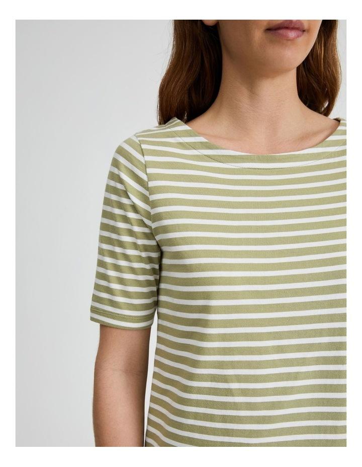 Short Sleeve Stripe Boatneck Tee image 5