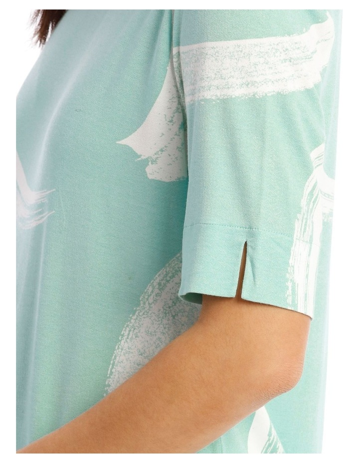 Short Sleeve Tee With Sleeve And Hem Splits image 4