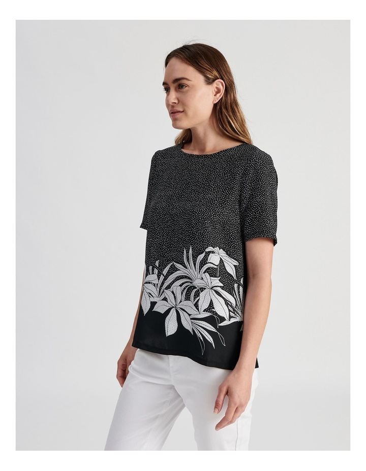 Woven Front With Knit Back Tee image 2
