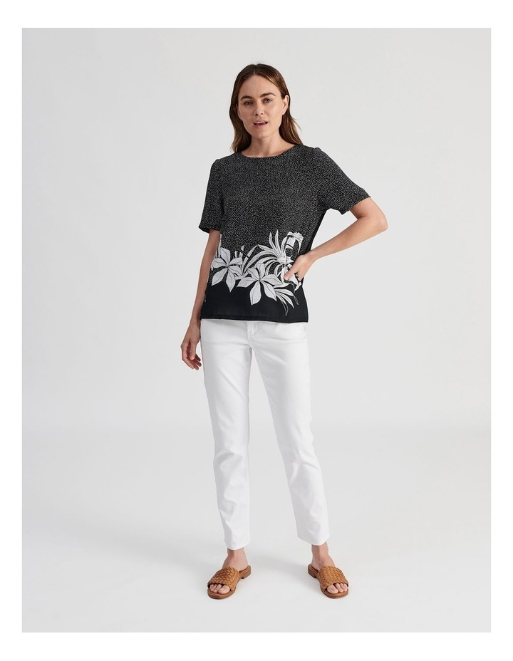 Woven Front With Knit Back Tee image 4