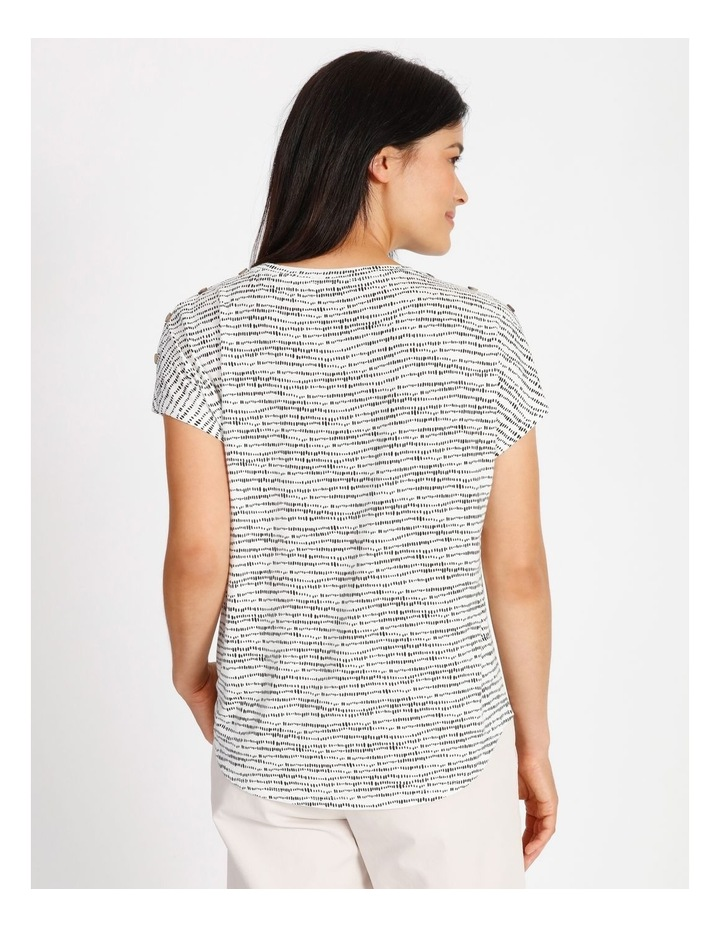 Etched Extended Sleeve Tee With Button Shoulder image 3