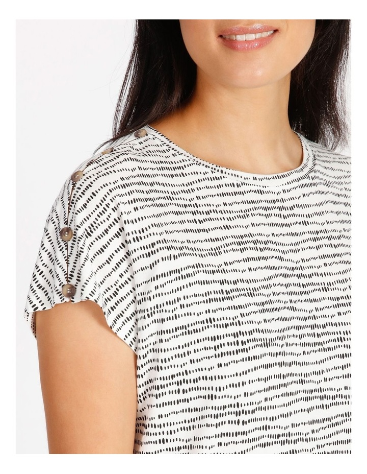 Etched Extended Sleeve Tee With Button Shoulder image 4
