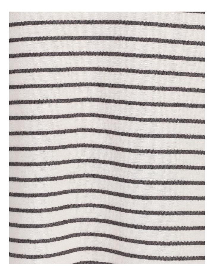 Horizontal And Vertical Stripe 3/4 Sleeve Tee image 7