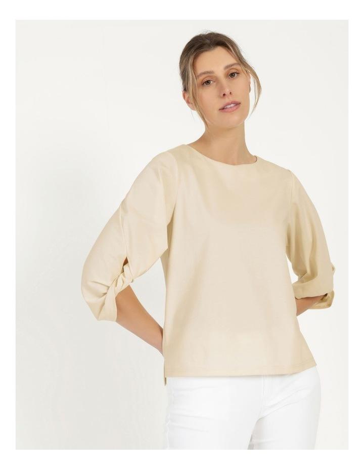 Tucked Sleeve Tee Ivory image 1