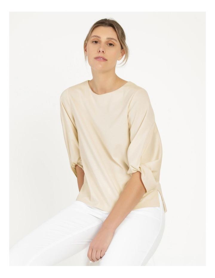 Tucked Sleeve Tee Ivory image 6