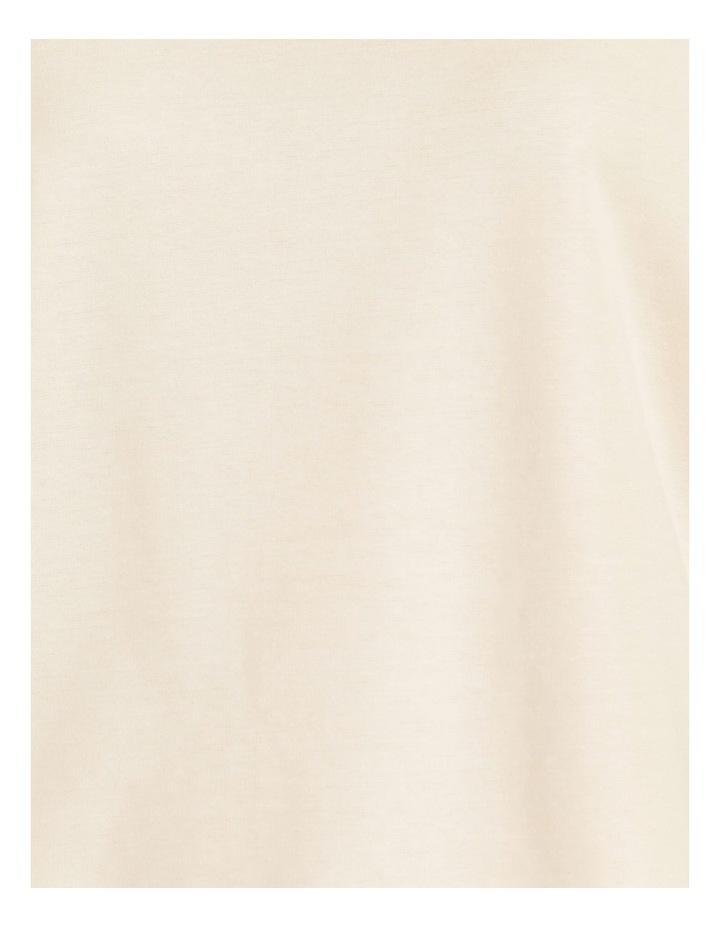 Tucked Sleeve Tee Ivory image 7