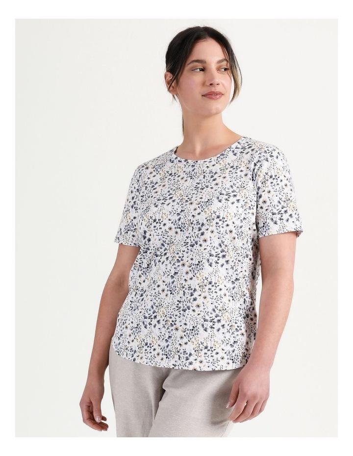 Wardrobe Staple Tee Blue Floral image 5