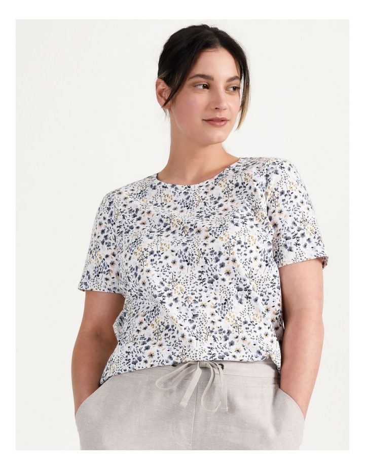 Wardrobe Staple Tee Blue Floral image 6