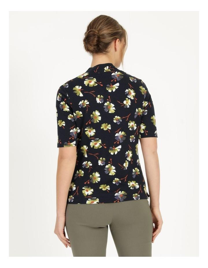 High Neck Short Sleeve Tee Navy/Avocado Floral image 6