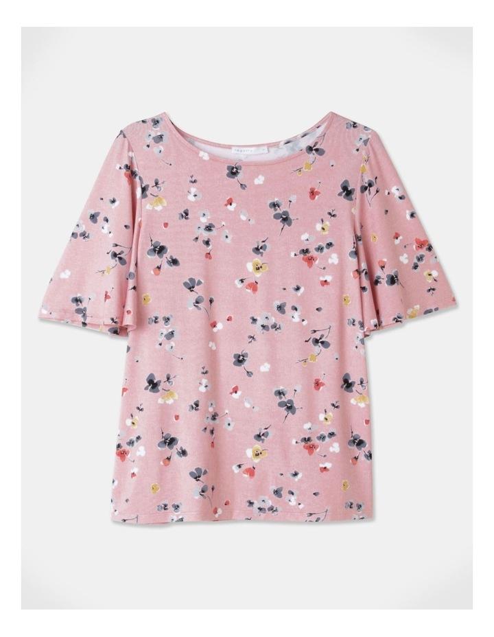 Flutter Short Sleeve Tee Pink Floral image 1