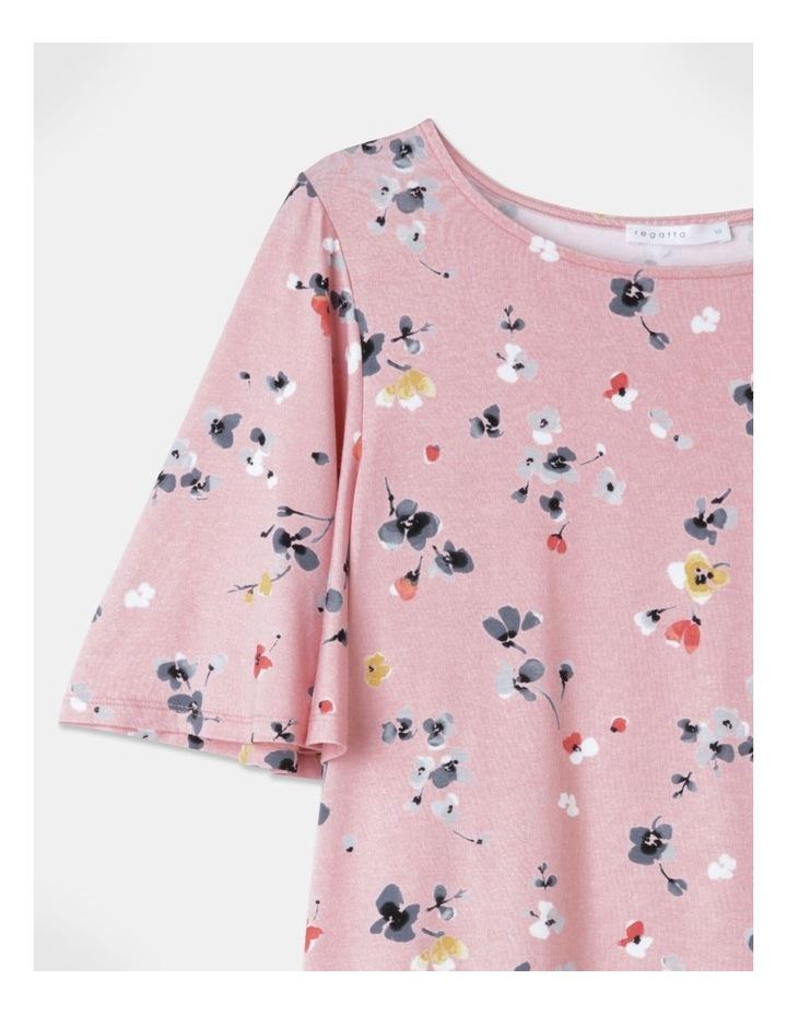 Flutter Short Sleeve Tee Pink Floral image 2