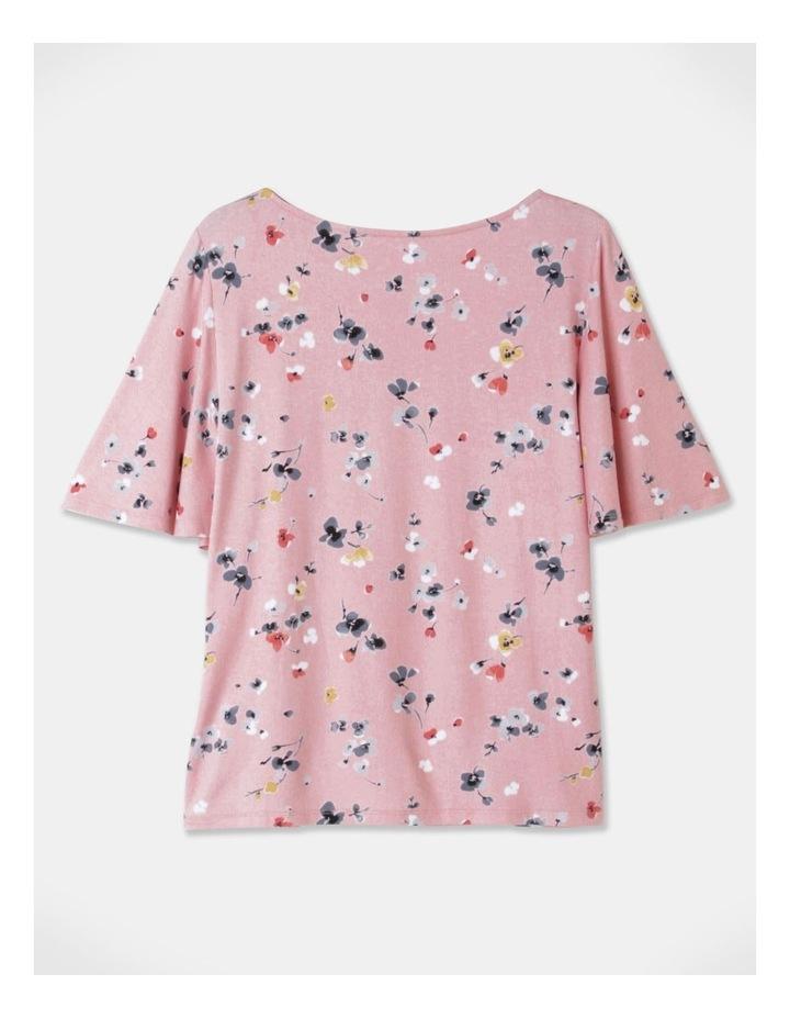 Flutter Short Sleeve Tee Pink Floral image 3