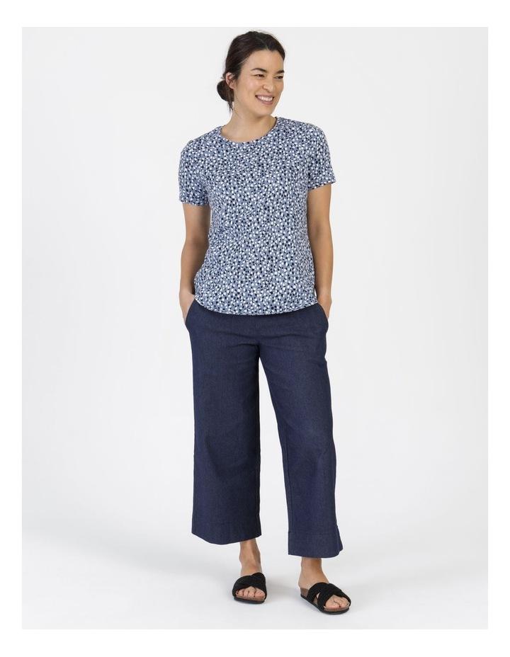 Wardrobe Staple Short Sleeve Tee Blue Pebble Spot image 1