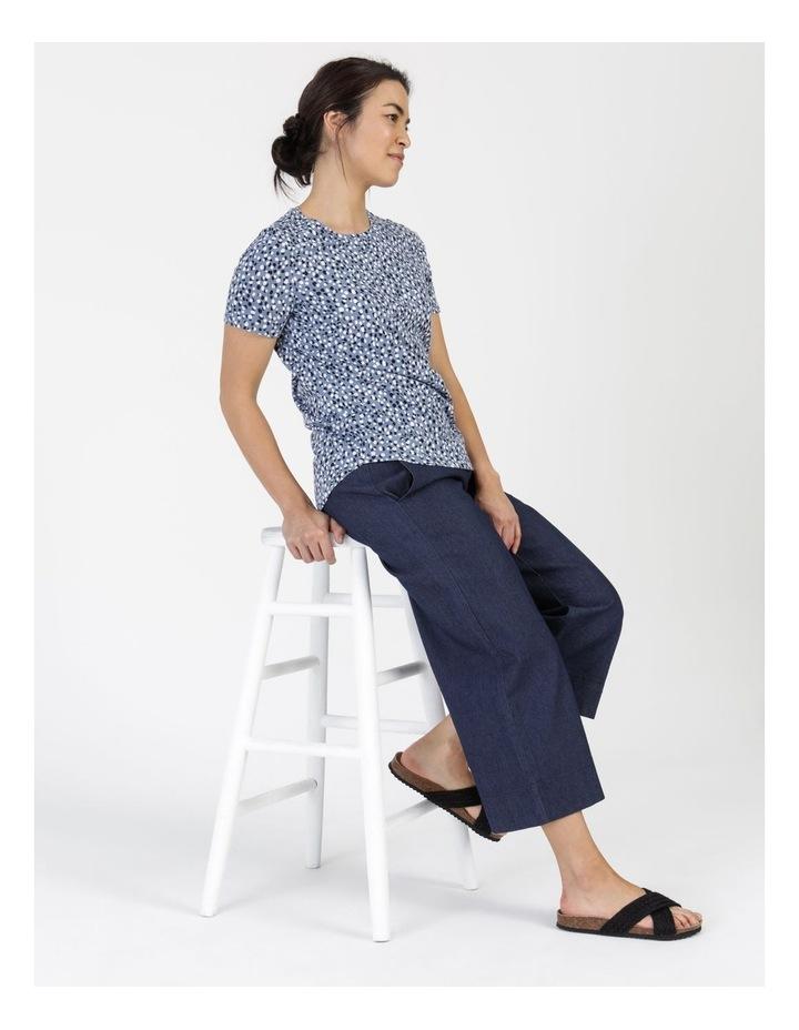 Wardrobe Staple Short Sleeve Tee Blue Pebble Spot image 2