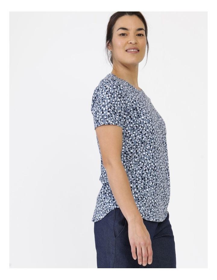 Wardrobe Staple Short Sleeve Tee Blue Pebble Spot image 3