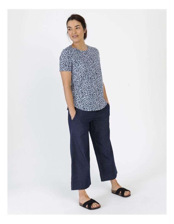 Wardrobe Staple Short Sleeve Tee Blue Pebble Spot image 5