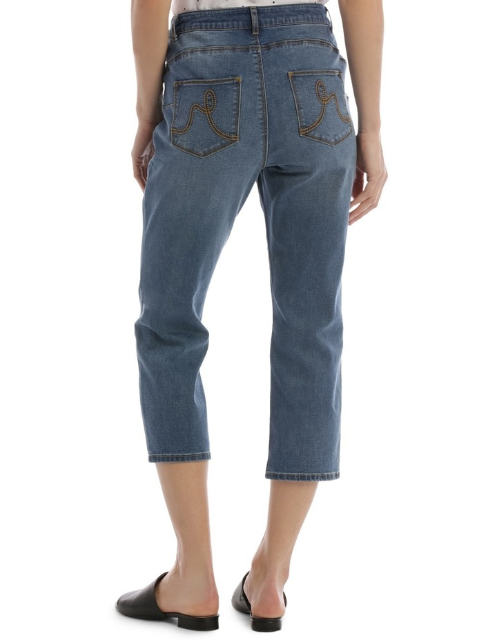 Essential Crop Jean Mid Blue image 3