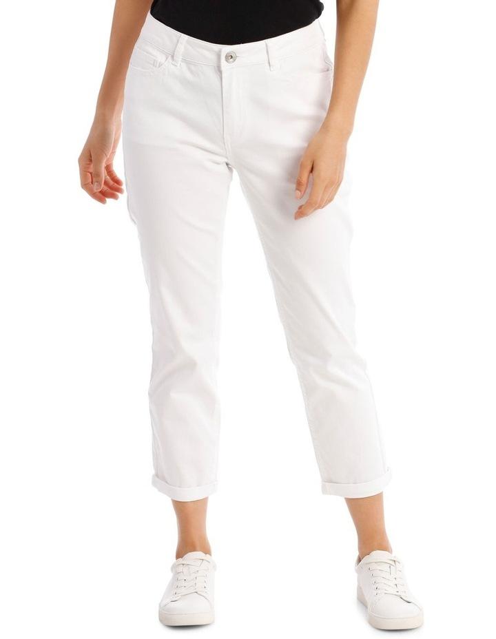 Essential Denim Crop Jean - Blanc White image 1