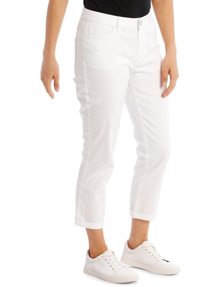 Essential Denim Crop Jean - Blanc White image 2
