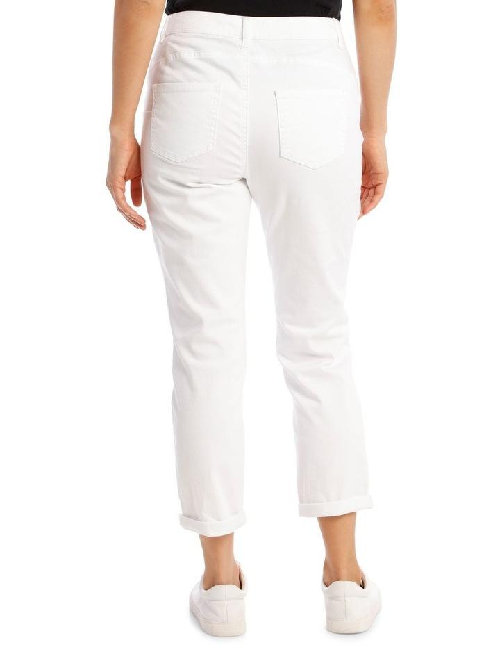 Essential Denim Crop Jean - Blanc White image 3