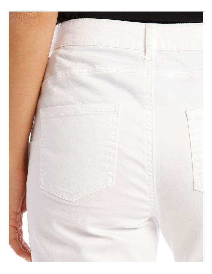 Essential Denim Crop Jean - Blanc White image 4
