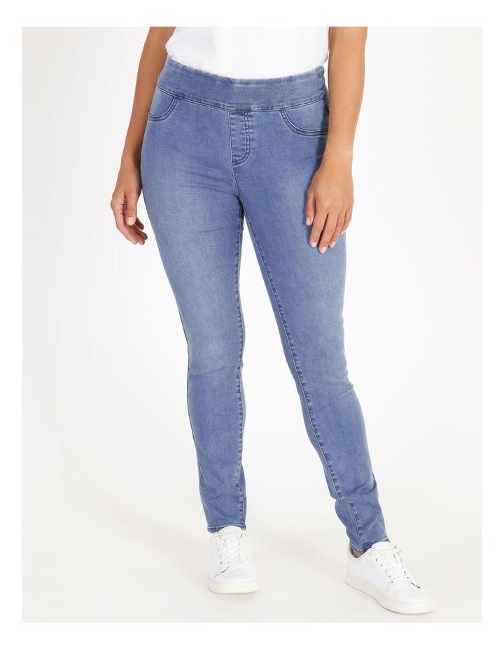 Wardrobe Staple Full Length Denim Jegging in Clear Blue image 1