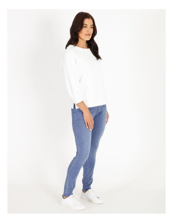 Wardrobe Staple Full Length Denim Jegging in Clear Blue image 2