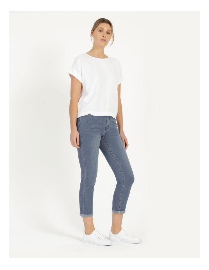 Wardrobe Staple Denim Crop Jean Mid Wash image 3