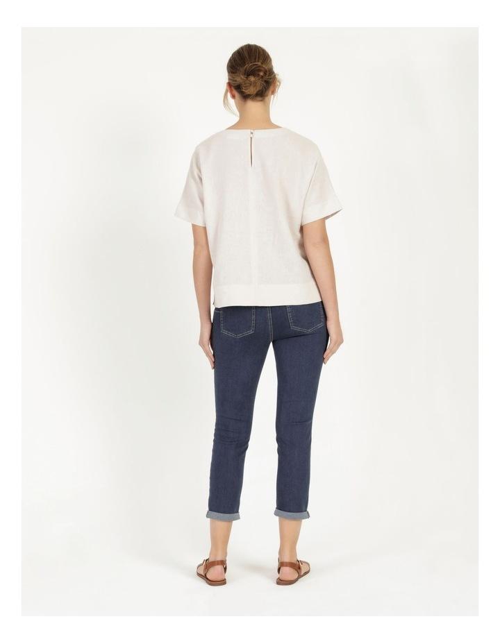 Wardrobe Staple Denim Crop Jean Dark Wash image 4