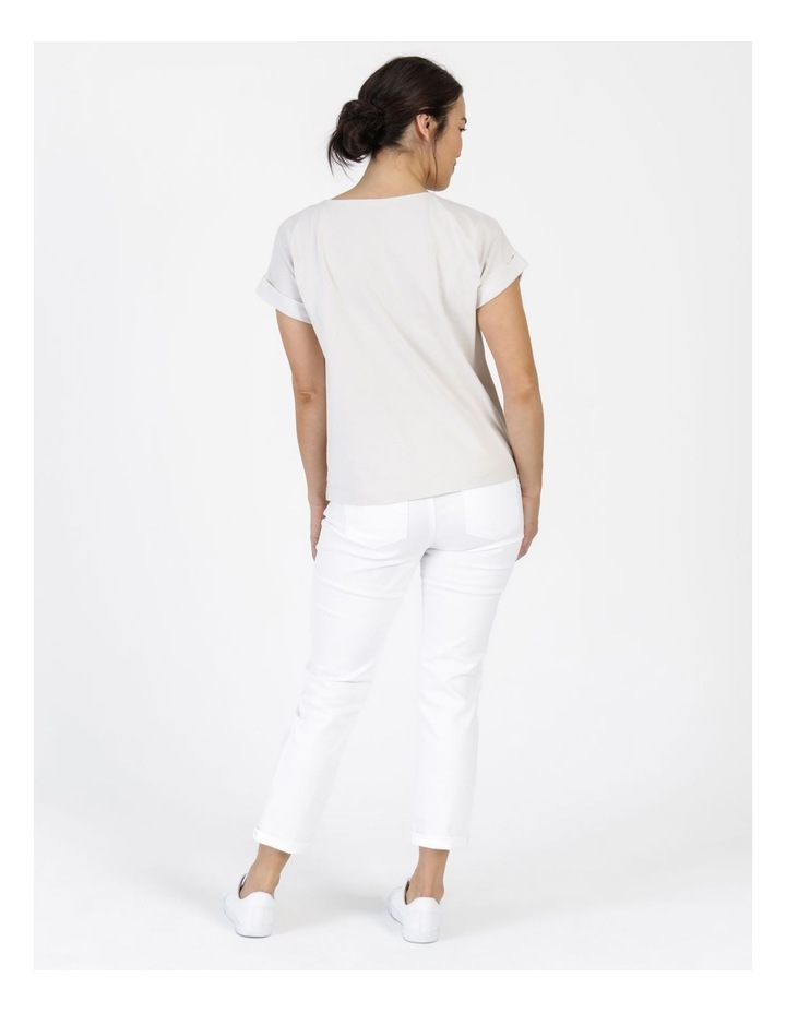 Wardrobe Staple Denim Crop Jean Blanc White image 3