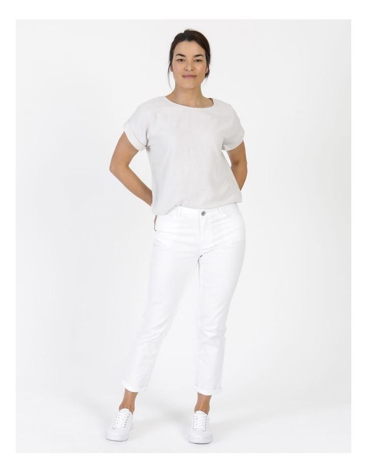Wardrobe Staple Denim Crop Jean Blanc White image 6