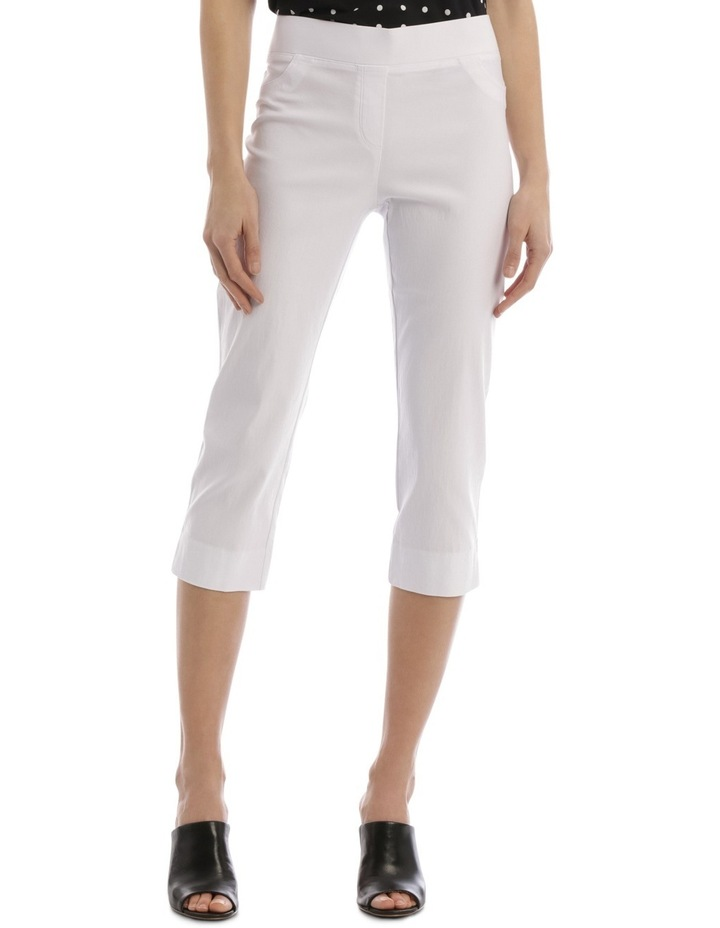 Essential Stretch Crop Pant White image 1