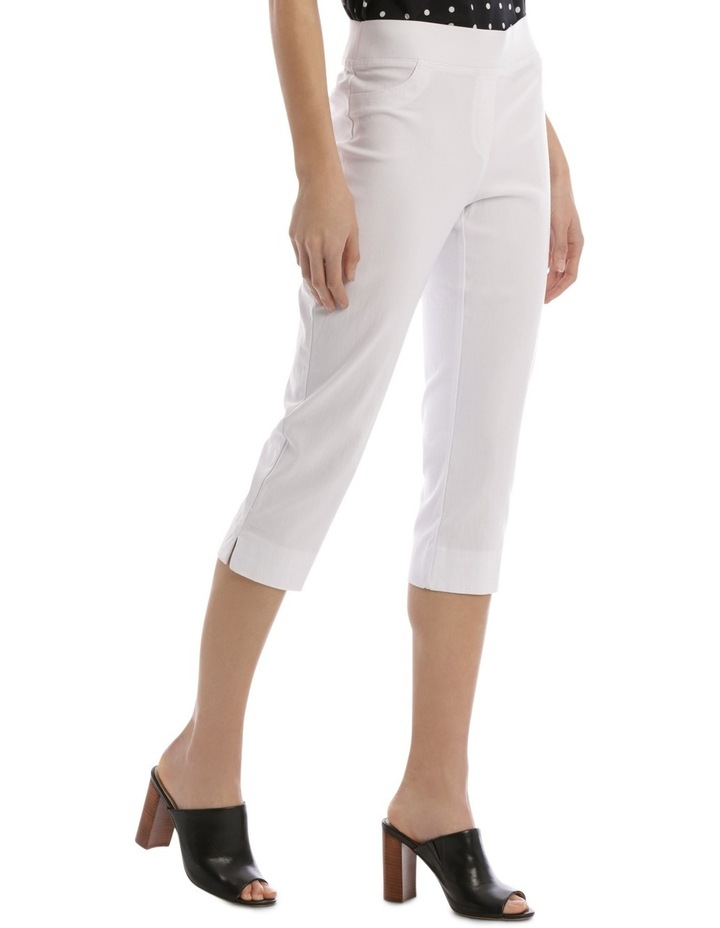 Essential Stretch Crop Pant White image 2