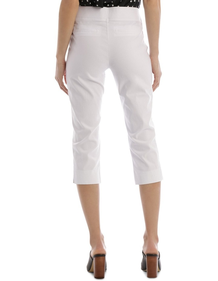 Essential Stretch Crop Pant White image 3