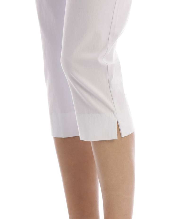 Essential Stretch Crop Pant White image 4