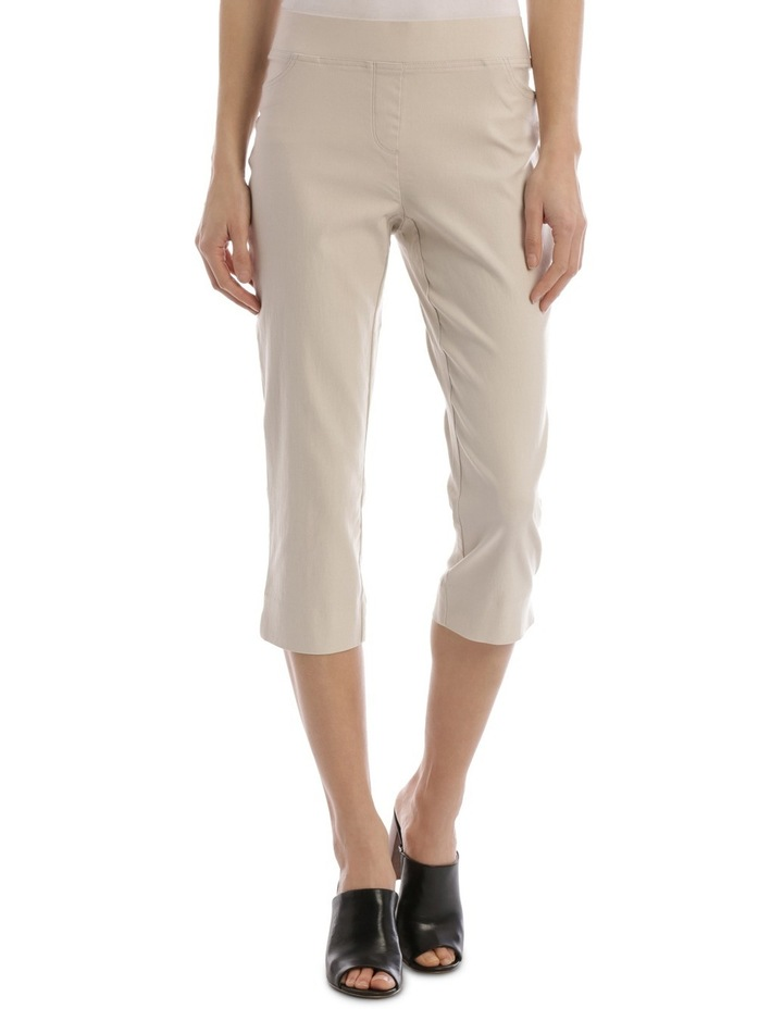 Essential Stretch Crop Pant Stone image 1
