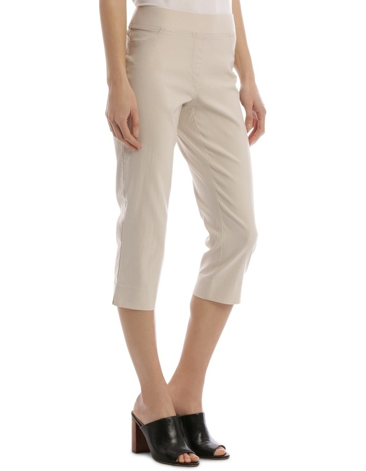 Essential Stretch Crop Pant Stone image 2