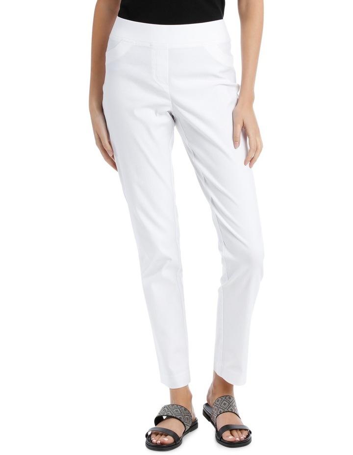 Essential Stretch Slim Leg Pant White image 1