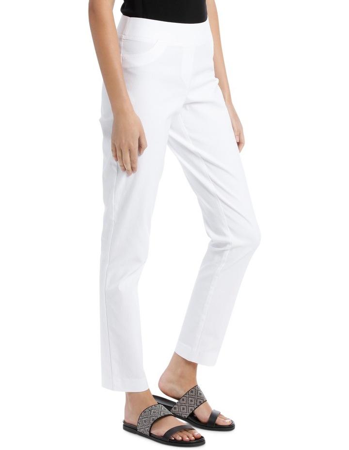 Essential Stretch Slim Leg Pant White image 2