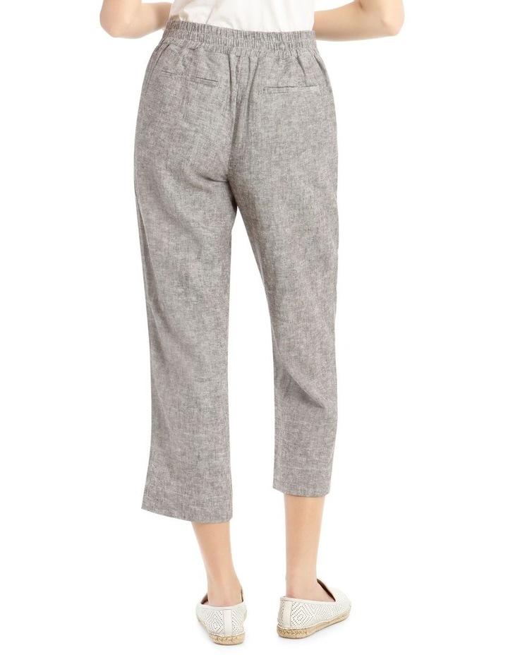 Linen Blend Straight Leg Pant image 3