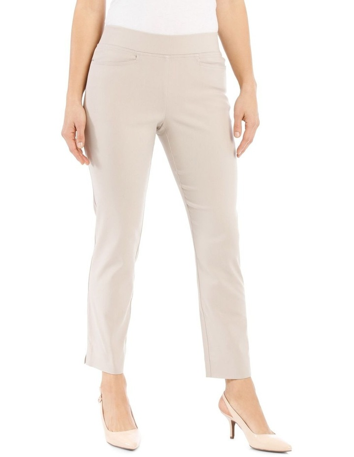 Essential Stretch Crop Pant-Stone image 1